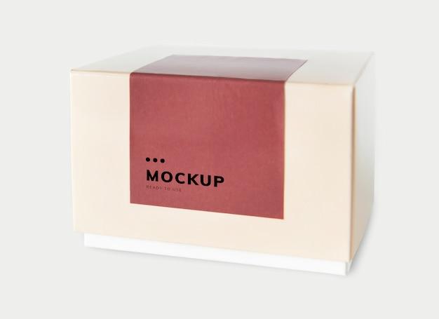 Maquette de boîte de papier d'emballage simple