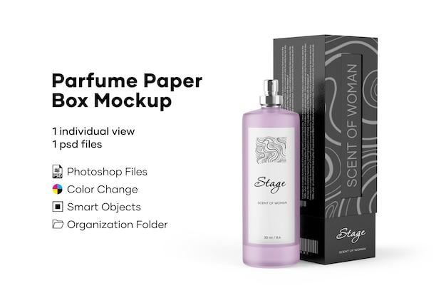 Maquette de boîte de papier de parfum