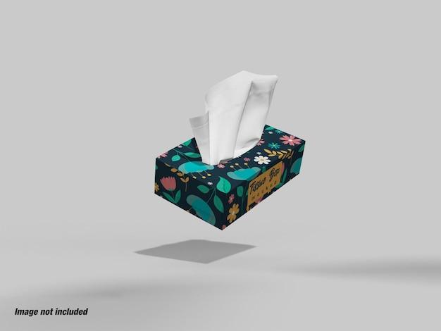 Maquette de boîte en papier de soie