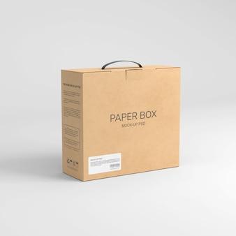 Maquette de boîte à papier