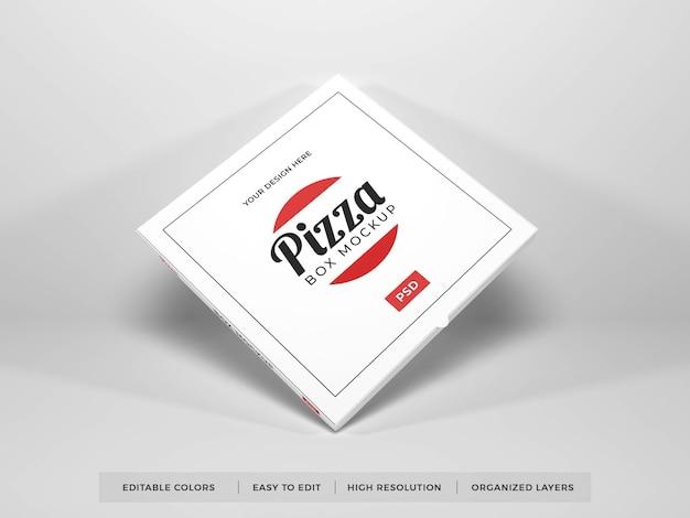 Maquette de boîte à pizza réaliste