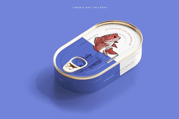 Maquette de boîte de poisson en aluminium