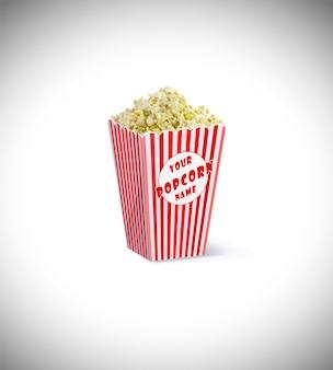 Maquette de boîte de pop-corn psd gratuit
