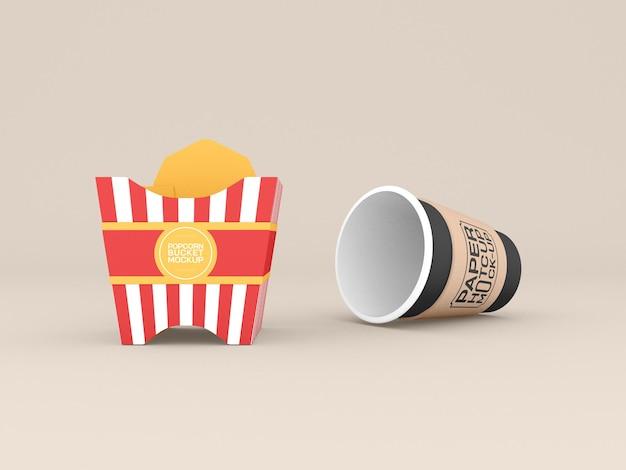 Maquette de boîte de pop-corn