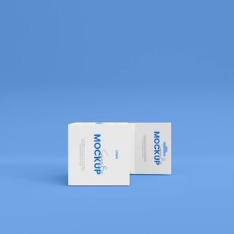 Maquette de boîte de produit 3d isolée