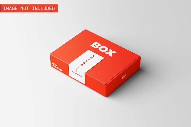 Maquette de boîte de produit avec du ruban adhésif
