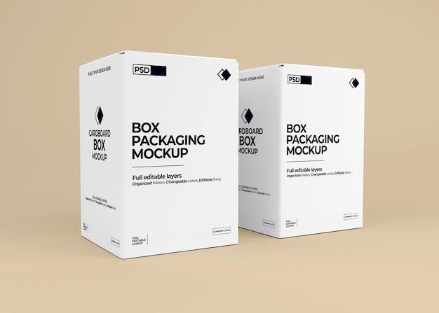 Maquette de boîte réaliste en rendu 3d isolé