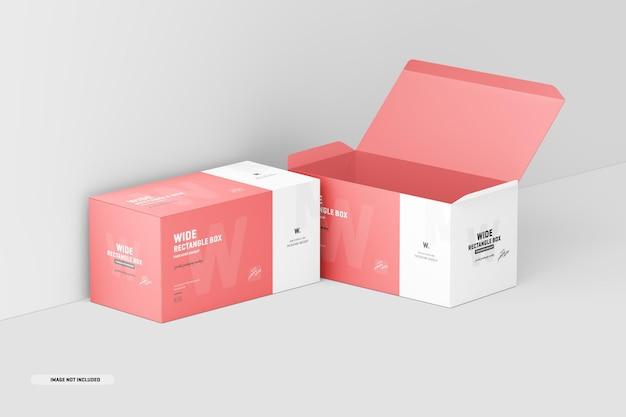 Maquette de boîte rectangulaire large