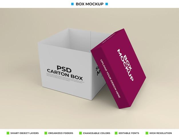 Maquette de boîte rectangulaire pour l'emballage du produit