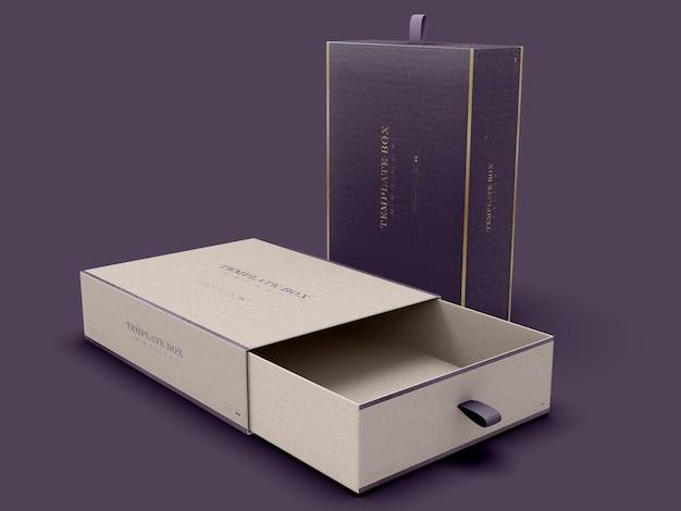 Maquette de boîte rectangulaire