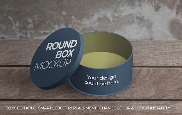 Maquette de boîte ronde