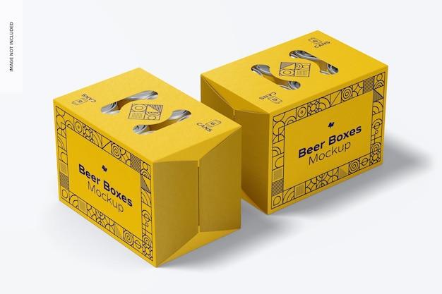 Maquette de boîtes à bière