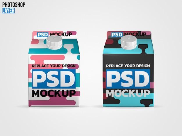 Maquette de boîtes à lait