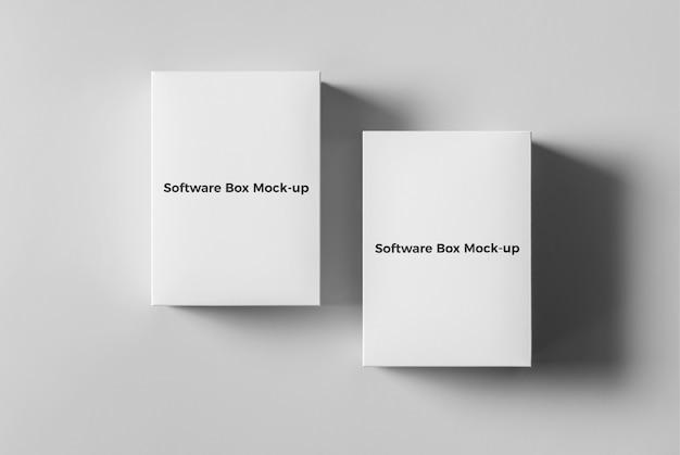 Maquette de boîtes à logiciels