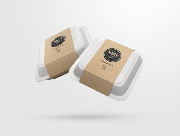 Maquette de boîtes de nourriture double