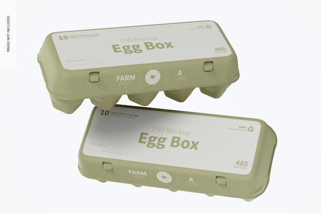 Maquette de boîtes à œufs, flottante