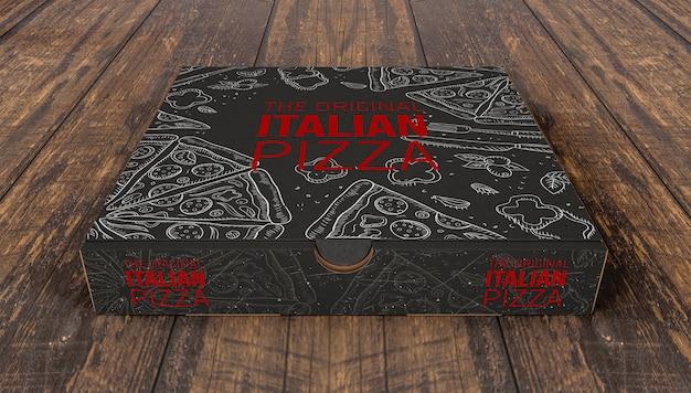 Maquette de boîtes à pizza créatives