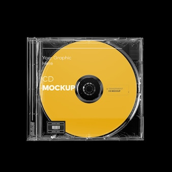 Maquette de boîtier de cd transparent