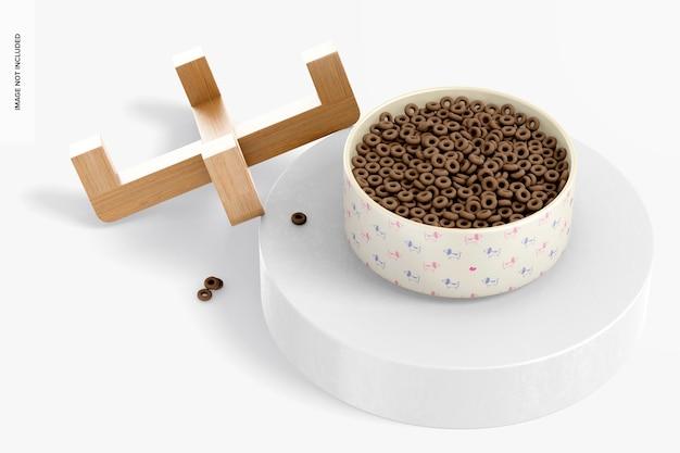 Maquette de bol pour animaux de compagnie en céramique, penchée 02