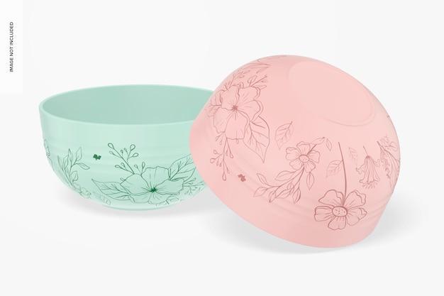 Maquette de bols de céréales en céramique