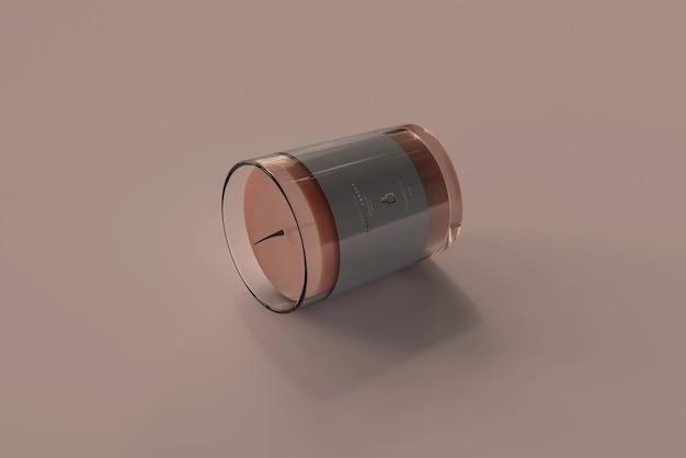 Maquette de bougie votive en verre transparent