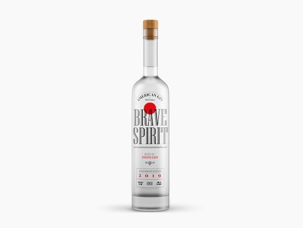 Maquette de bouteille d'alcool