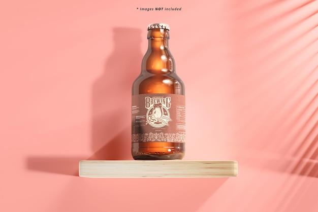 Maquette de bouteille de bière