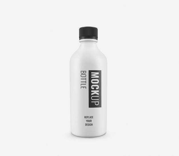 Maquette de bouteille blanche réaliste