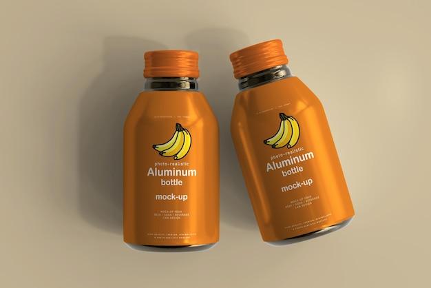 Maquette de bouteille de boisson en aluminium