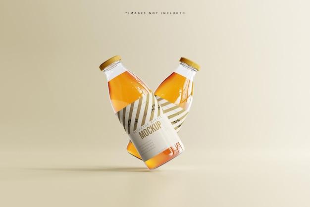 Maquette de bouteille de boisson en verre de boisson gazeuse