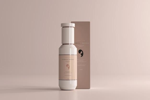 Maquette de bouteille et de boîte cosmétique