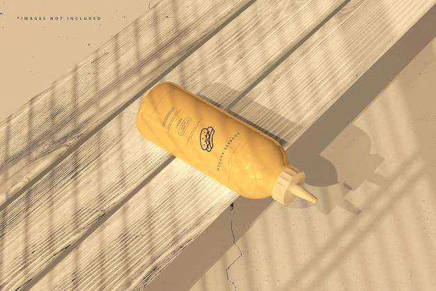 Maquette de bouteille compressible