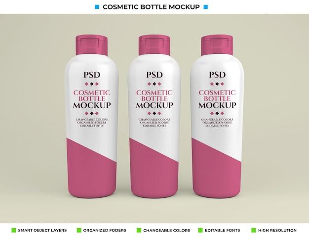 Maquette de bouteille cosmétique dans le concept de beauté