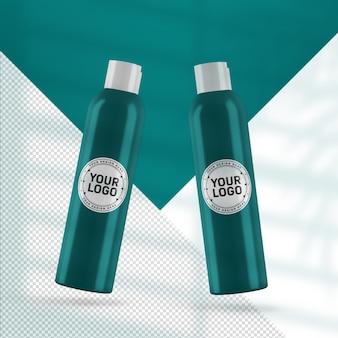 Maquette de bouteille cosmétique réaliste