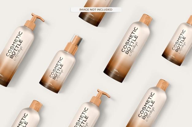 Maquette de bouteille cosmétique