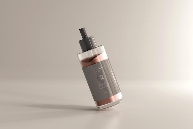 Maquette de bouteille de crème cosmétique