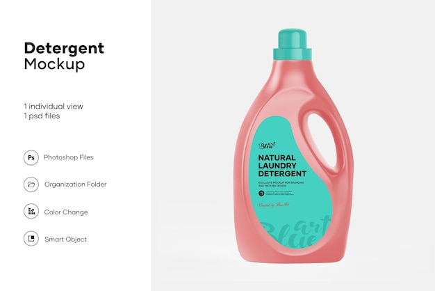 Maquette de bouteille de détergent à lessive liquide