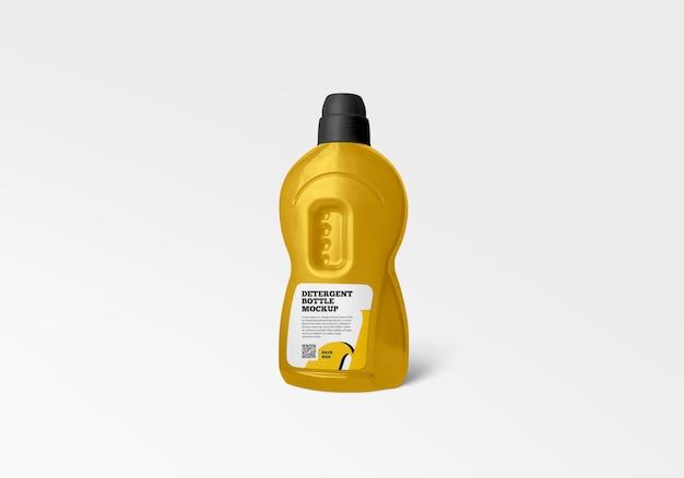 Maquette de bouteille de détergent en plastique en rendu 3d