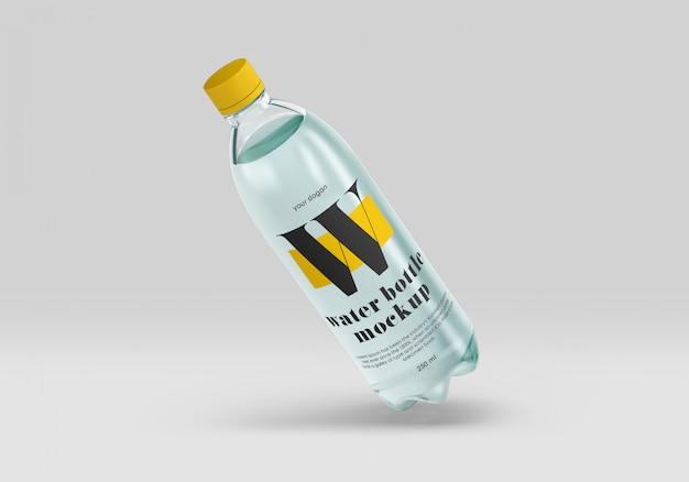Maquette de bouteille d'eau bleue pour animaux de compagnie