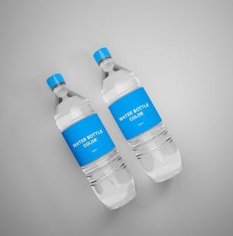 Maquette de bouteille d'eau minérale réaliste