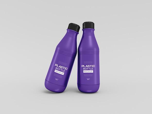 Maquette de bouteille d'eau en plastique