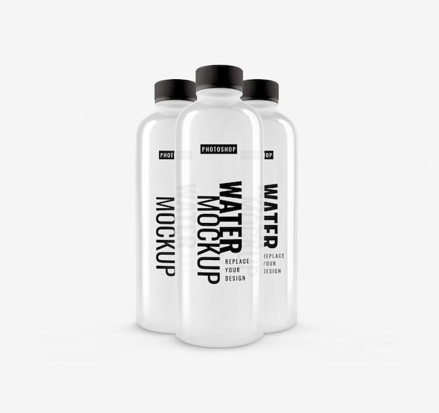Maquette de bouteille d'eau potable