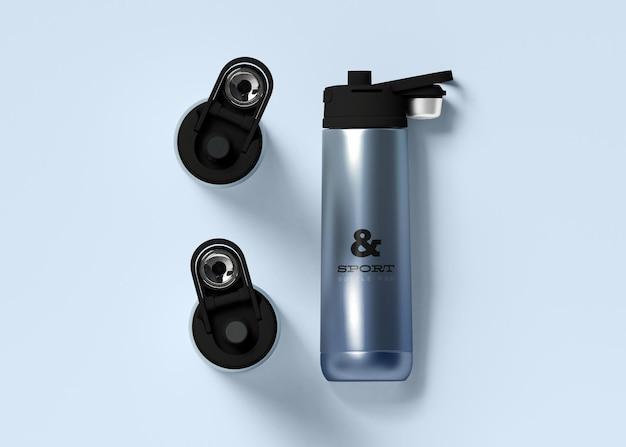 Maquette de bouteille d'eau de sport