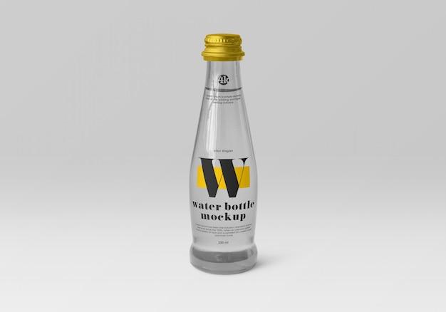 Maquette de bouteille d'eau en verre