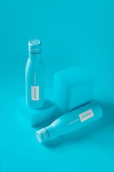 Maquette de bouteille de goutte d'eau