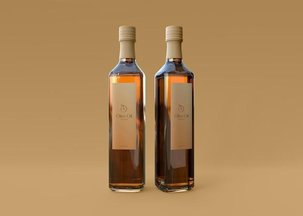Maquette de bouteille d'huile d'olive