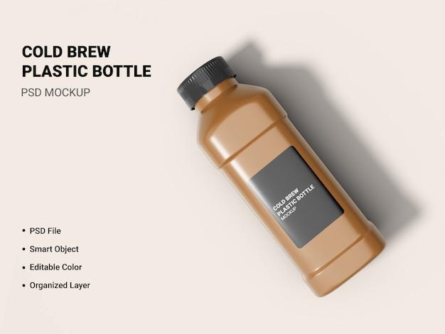 Maquette de bouteille d'infusion froide isolée