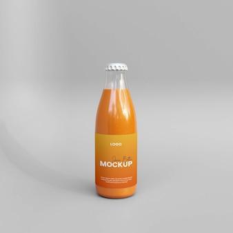 Maquette de bouteille de jus en verre 3d