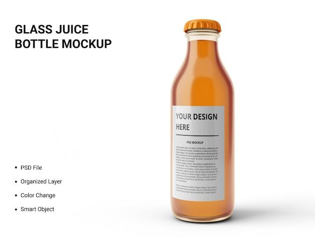 Maquette de bouteille de jus en verre
