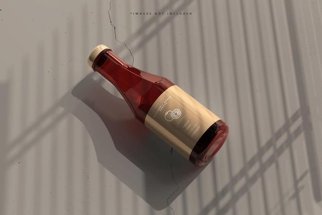 Maquette de bouteille de ketchup ou de sauce